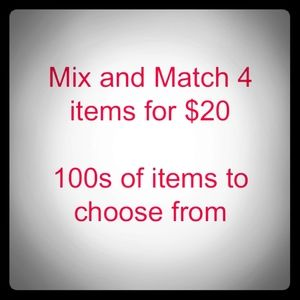 Bundle 4 items for $20